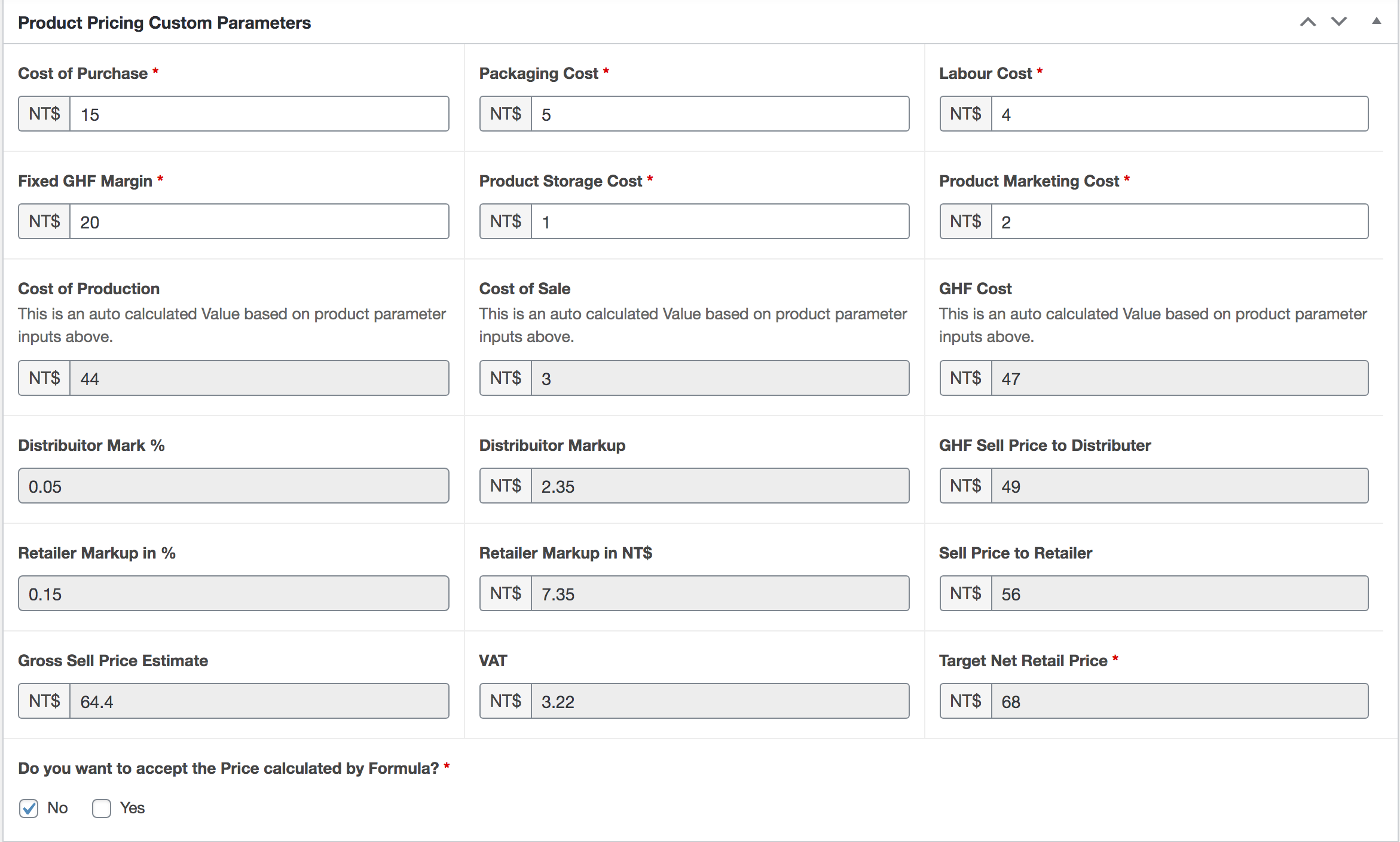 Updated Custom Fields - Added a COnditional Checkbox to accept Price or Set Manually