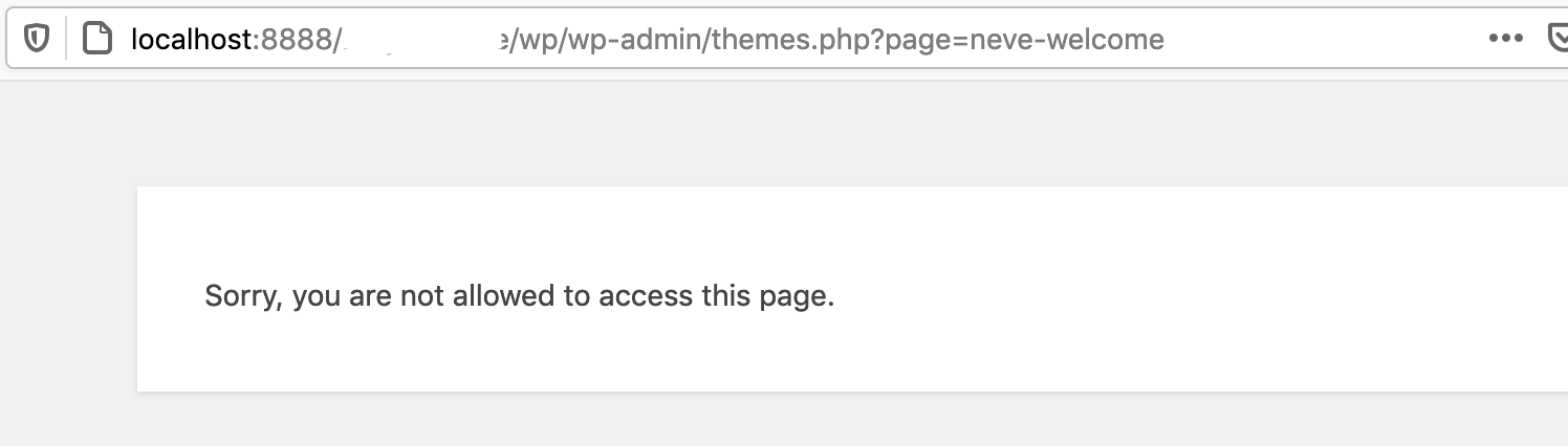 sorry, you are not allowed to access this page
